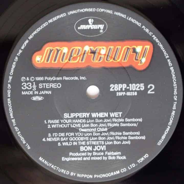 Bon Jovi Slippery When Wet Japanese Pressing