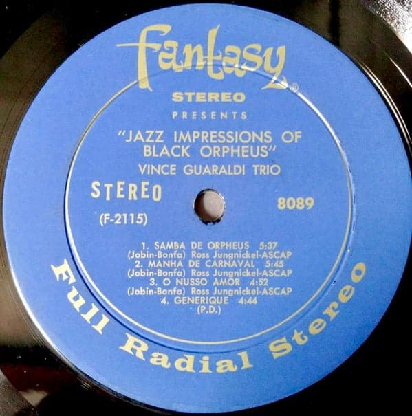 Vince Guaraldi Trio Jazz Impressions Of Black Orpheus
