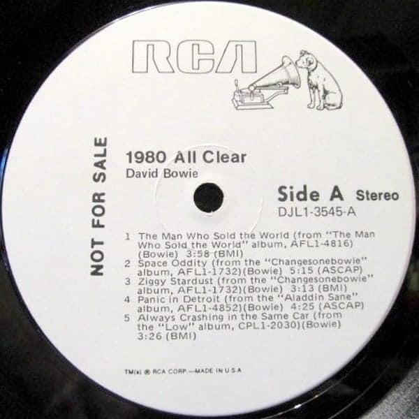 David Bowie 1980 All Clear Promo