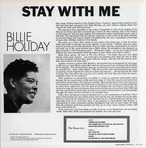 Billie Holiday Stay With Me Japanese Pressing